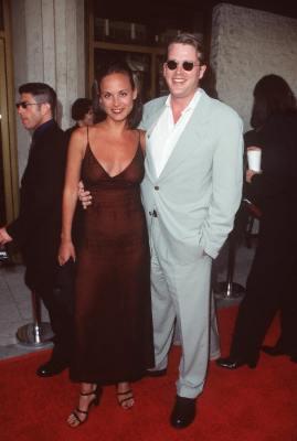 Cary Elwes and Lisa Marie Kurbikoff at The Truman Show (1998)