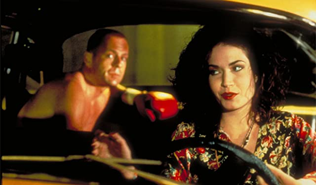 Bruce Willis and Angela Jones in Pulp Fiction (1994)