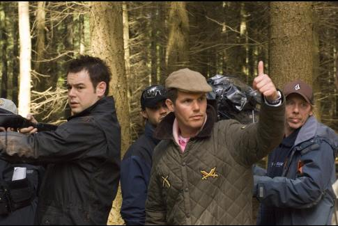Danny Dyer and Nick Love in Outlaw (2007)