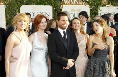 Tom Cruise, Kim Cattrall, Sarah Jessica Parker, Kristin Davis, and Cynthia Nixon