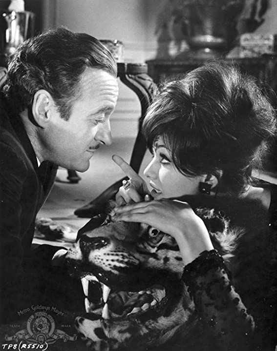 David Niven and Claudia Cardinale in The Pink Panther (1963)