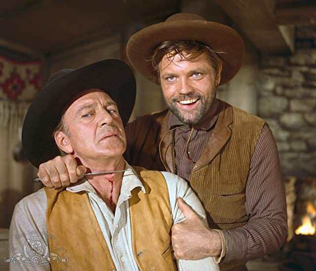 Gary Cooper and Jack Lord in Man of the West (1958)