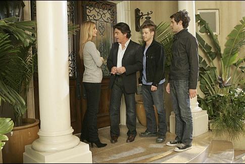 Peter Gallagher, Adam Brody, Kelly Rowan, and Ben McKenzie in The O.C. (2003)