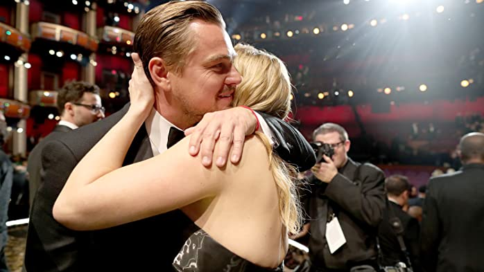 Leonardo DiCaprio and Kate Winslet at an event for The 88th Annual Academy Awards (2016)