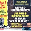 Alfred Hitchcock, Grace Kelly, and James Stewart in Rear Window (1954)