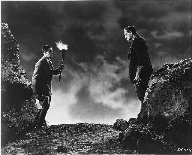 Boris Karloff and Colin Clive in Frankenstein (1931)