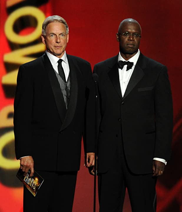 Mark Harmon and Andre Braugher at The 65th Primetime Emmy Awards (2013)