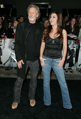 Kris Kristofferson and Gretchen Wilson at an event for Walk the Line (2005)