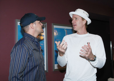 Matthew Modine and Eddie O'Flaherty at an event for The Neighbor (2007)