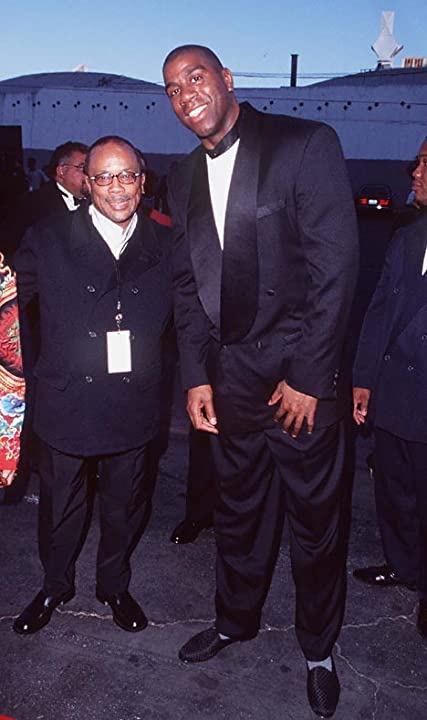 Magic Johnson and Quincy Jones