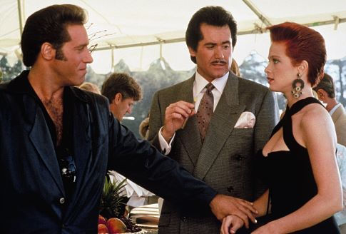 Lauren Holly, Andrew Dice Clay, and Wayne Newton in The Adventures of Ford Fairlane (1990)