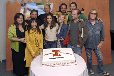 Kathy Najimy, Brittany Murphy, Ashley Gardner, Johnny Hardwick, David Herman, Toby Huss, Mike Judge, Tom Petty, Stephen Root, and Lauren Tom at King of the Hill (1997)