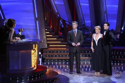Tom Bergeron and Sabrina Bryan in Dancing with the Stars (2005)