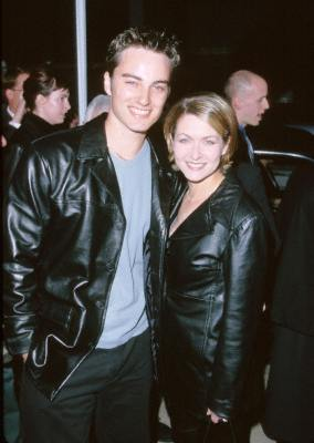 Kerr Smith and Ali Hillis at an event for Go (1999)