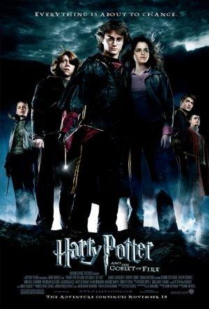 Rupert Grint, Daniel Radcliffe, Emma Watson, Clémence Poésy, Robert Pattinson, and Stanislav Ianevski in Harry Potter and the Goblet of Fire (2005)