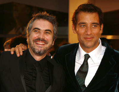 Alfonso Cuarón and Clive Owen at an event for Children of Men (2006)