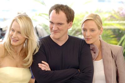 Quentin Tarantino, Uma Thurman, and Daryl Hannah at Kill Bill: Vol. 2 (2004)