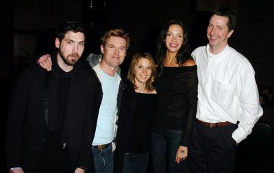 Hal Hartley, Sabrina Lloyd, Leo Fitzpatrick, Bill Sage, and Tatiana Abracos at The Girl from Monday (2005)