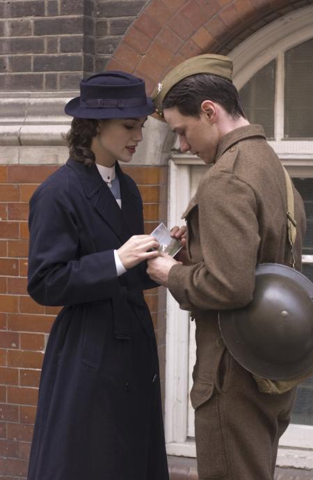 Keira Knightley and James McAvoy in Atonement (2007)