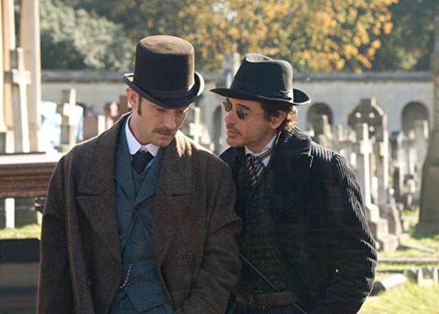 Jude Law and Robert Downey Jr. in Sherlock Holmes (2009)
