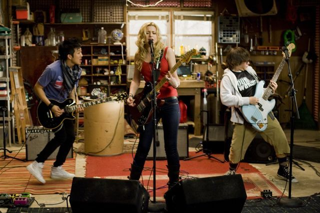 Aly Michalka, Charlie Saxton, and Tim Jo in Bandslam (2009)