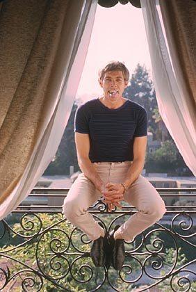 James Coburn at home