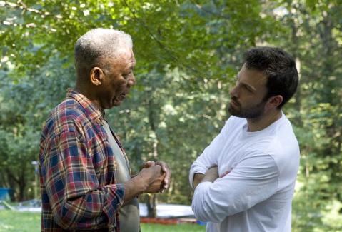 Morgan Freeman and Ben Affleck in Gone Baby Gone (2007)