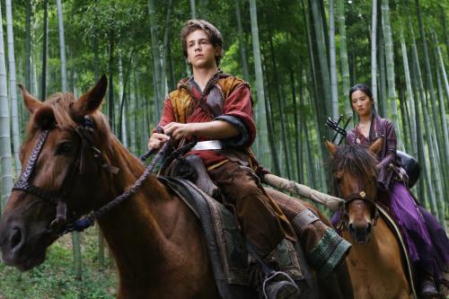 Michael Angarano and Yifei Liu in The Forbidden Kingdom (2008)