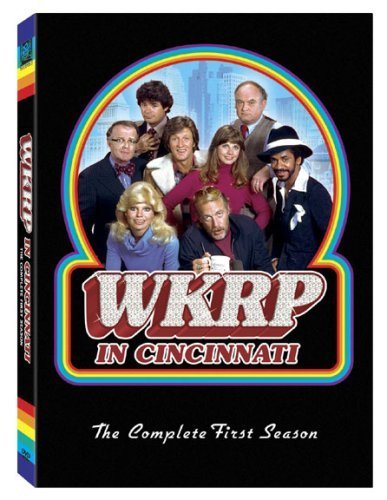 Loni Anderson, Tim Reid, Frank Bonner, Howard Hesseman, Gordon Jump, Richard Sanders, Gary Sandy, and Jan Smithers in WKRP in Cincinnati (1978)