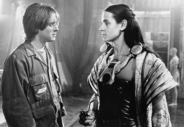 James Spader and Jaye Davidson in Stargate (1994)