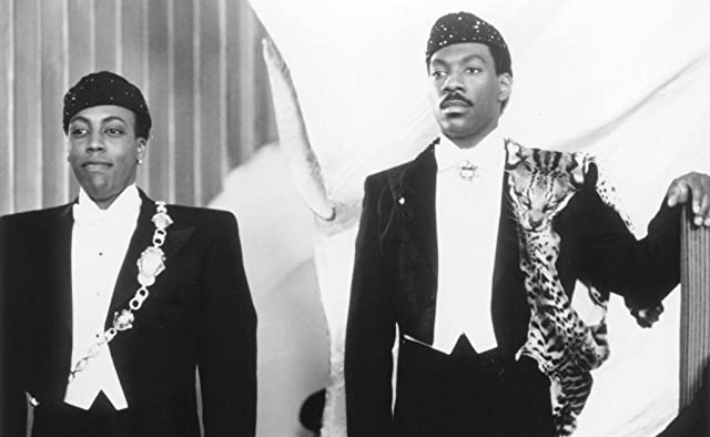 Still of Eddie Murphy and Arsenio Hall in Coming to America