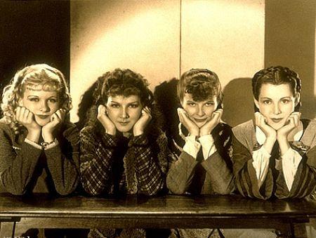1545-2 Katharine Hepburn, Joan Bennett, Frances Dee, Jean Parker in