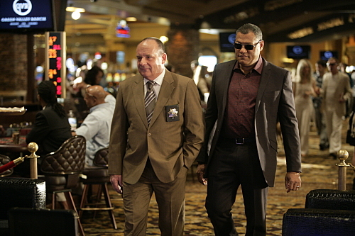 Laurence Fishburne and Paul Guilfoyle in CSI: Crime Scene Investigation (2000)