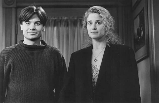 Mike Myers and Nancy Travis in So I Married an Axe Murderer (1993)