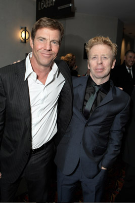 Dennis Quaid and Pete Travis at Vantage Point (2008)