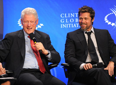 Brad Pitt and Bill Clinton