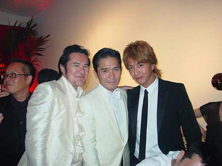 Kwok-Leung Gan with Tony Leung & Takuya Kimura (from left to right)