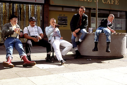 Joseph Gilgun, Kieran Hardcastle, Andrew Shim, Jack O'Connell, and Andrew Ellis in This Is England (2006)