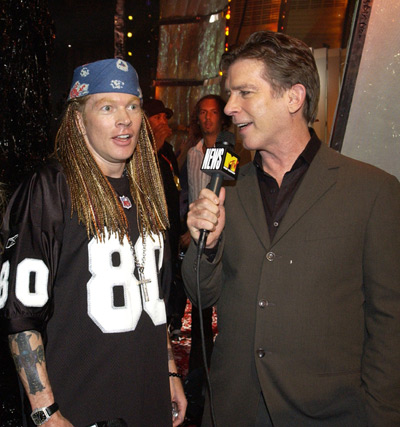 Kurt Loder and Axl Rose
