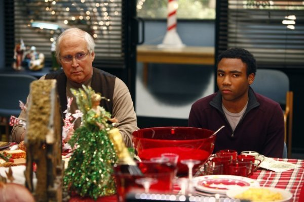 Chevy Chase and Donald Glover in Community (2009)
