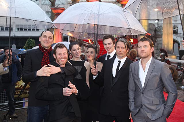 Jason Flemyng, Nicholas Hoult, Louis Leterrier, Mads Mikkelsen, Sam Worthington, Alexa Davalos, and Gemma Arterton at Clash of the Titans (2010)