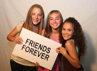 Rachel G. Fox, Madison Davenport, and Madison Pettis