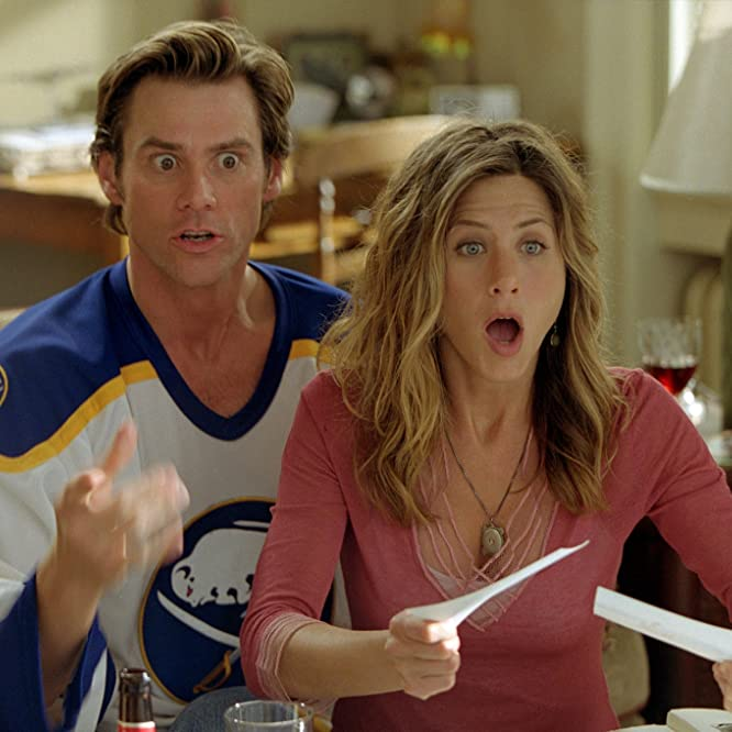 Jennifer Aniston and Jim Carrey in Bruce Almighty (2003)