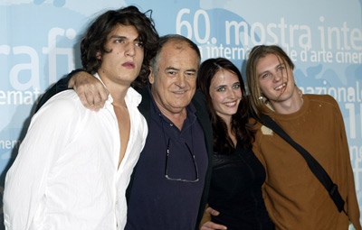 Bernardo Bertolucci, Louis Garrel, Michael Pitt, and Eva Green at an event for The Dreamers (2003)