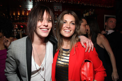 Katherine Moennig and Kate French at an event for The L Word (2004)