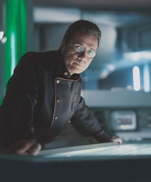 Edward James Olmos in Battlestar Galactica (2003)