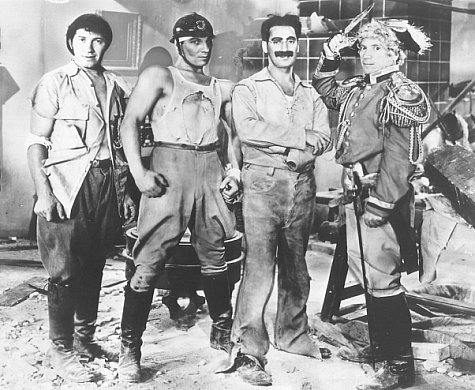 Groucho Marx, Chico Marx, Harpo Marx, and Zeppo Marx in Duck Soup (1933)