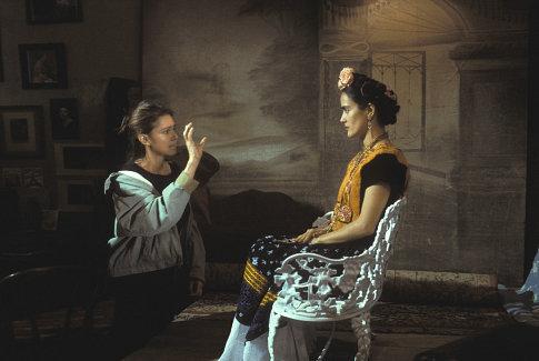 Salma Hayek and Julie Taymor in Frida (2002)