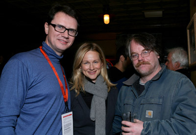 Philip Seymour Hoffman and Laura Linney at an event for The Savages (2007)