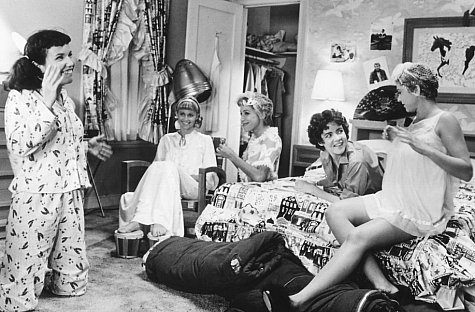 Stockard Channing, Olivia Newton-John, Dinah Manoff, Didi Conn, and Jamie Donnelly in Grease (1978)